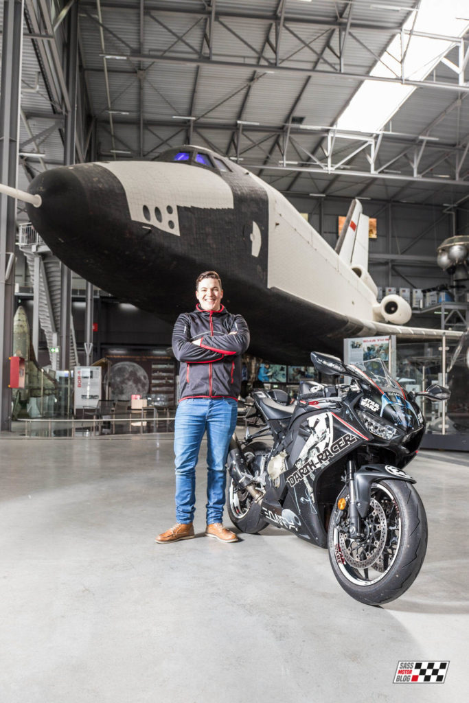 Foto: Torsten Karp - Chris Sass mit Darth Racer - Sass MotorBlog - Star Wars Bike